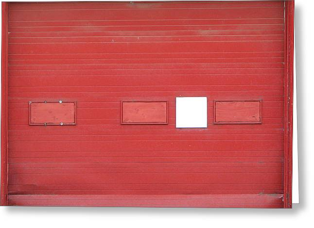 Big Red Door With Accent Greeting Card by Ben Freeman
