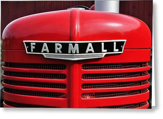 Big Red Farmall Greeting Card