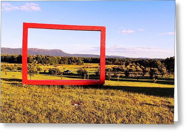 Big Red Frame Easthampton Greeting Card