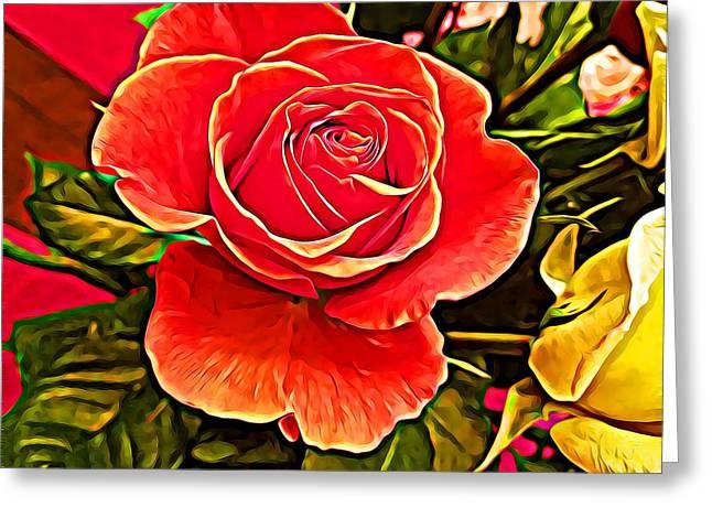 Big Red Rose Greeting Card