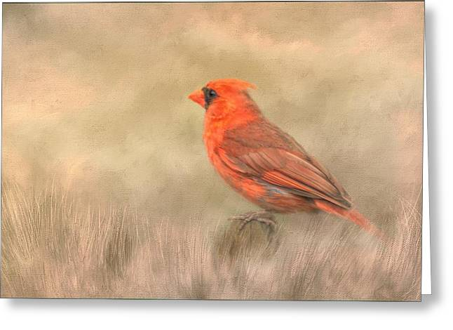 Greeting Card featuring the mixed media Big Red by Steven Richardson
