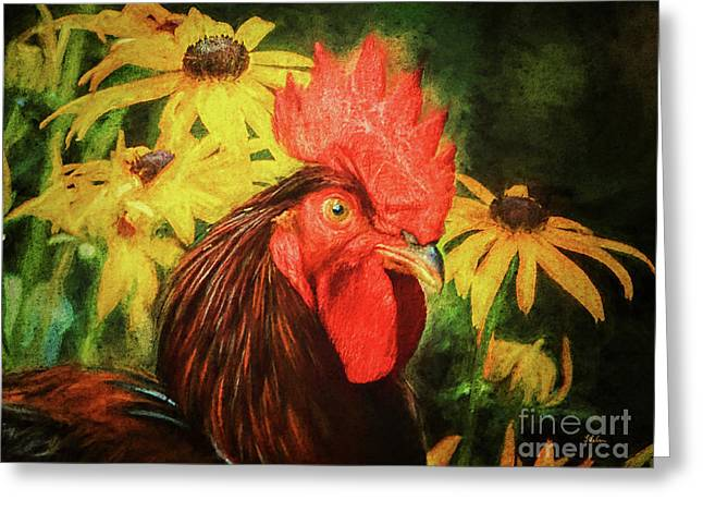 Big Red Greeting Card by Tina LeCour