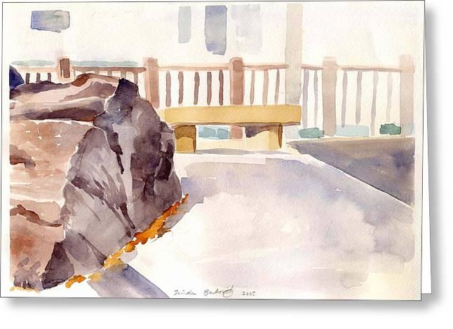 Big Rock 1 Greeting Card by Linda Berkowitz