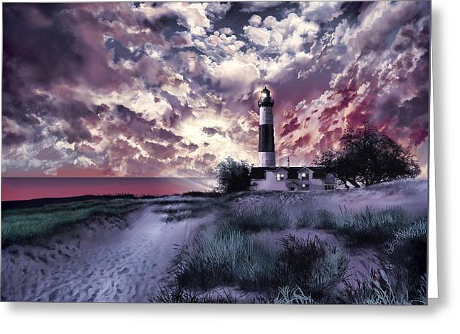 Big Sable Lighthouse 2 Greeting Card