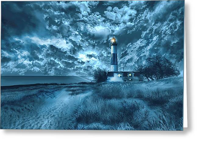Big Sable Lighthouse 3 Greeting Card