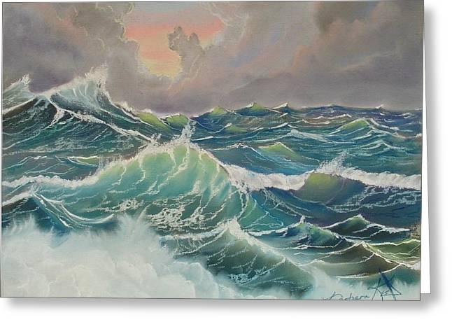 Big Seas Greeting Card by Barbara Keel