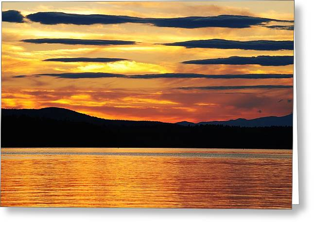 Greeting Card featuring the photograph Big Sebago Lake by Paul Noble