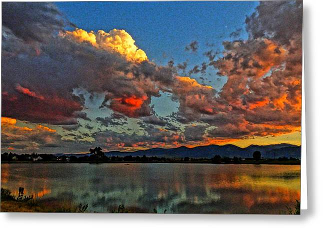 Greeting Card featuring the photograph Big Sky by Eric Dee