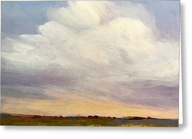 Greeting Card featuring the painting Big Sky by Helen Harris