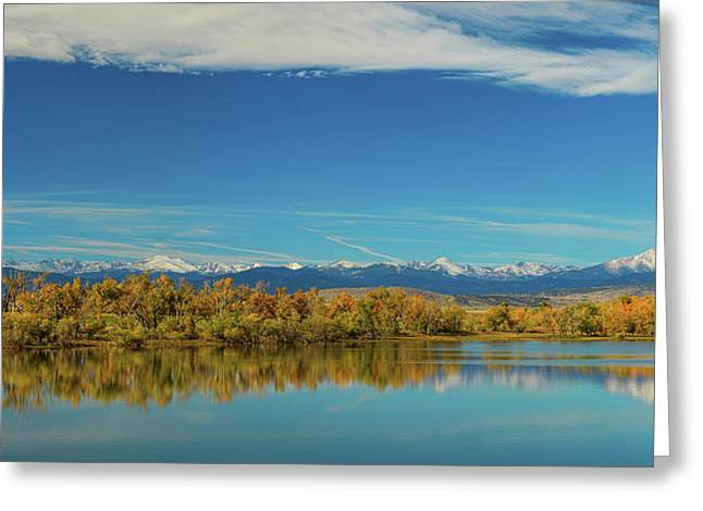 Big Sky Rocky Mountain Autumn Panorama Greeting Card