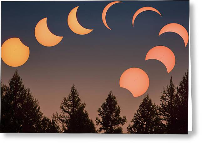 Big Sky Solar Eclipse // Whitefish, Montana  Greeting Card