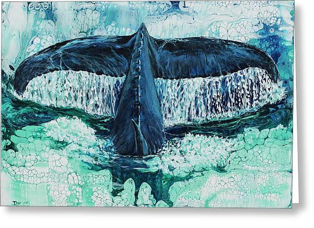 Greeting Card featuring the painting Big Splash On Maui by Darice Machel McGuire