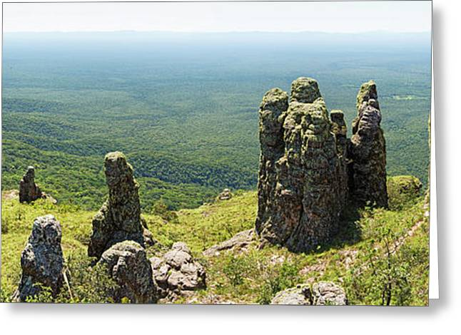 Big Standing Monolitic Rocks At Serrania De Chiquitania Greeting Card