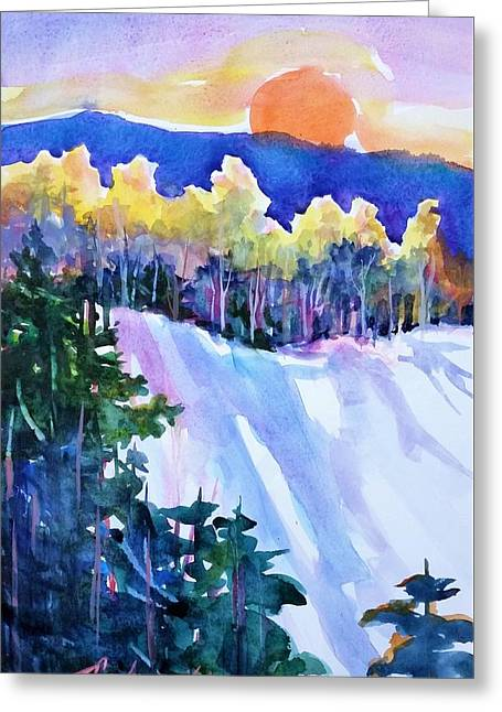 Big Sunshine Cold November Greeting Card by Therese Fowler-Bailey