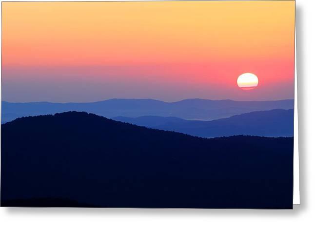 Big Sunrise Off Blue Ridge Parkway Greeting Card