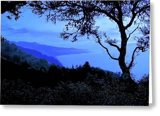 Big Sur Blue, California Greeting Card