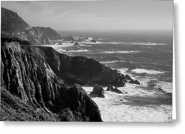 Big Sur Coast Bw  Greeting Card