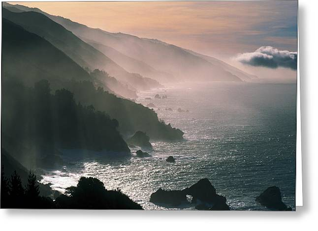 Big Sur Coastline Ca Usa Greeting Card by Panoramic Images