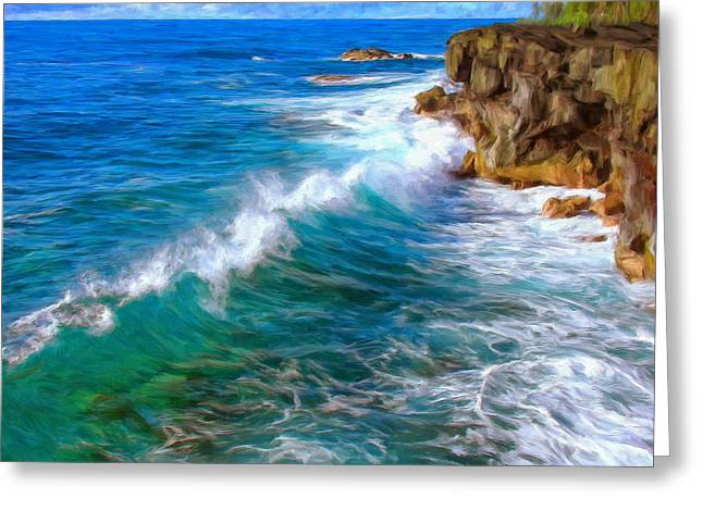 Recently Sold -  - Big Sur California Greeting Cards - Big Sur Coastline Greeting Card by Dominic Piperata