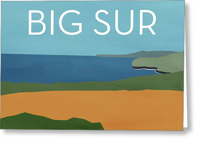 Big Sur Landscape- Art By Linda Woods Greeting Card by Linda Woods