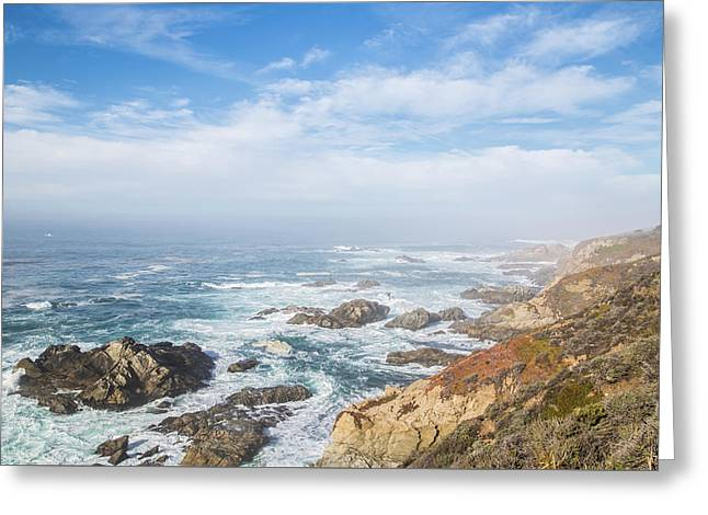 Greeting Card featuring the photograph Big Sur Sea View by Jingjits Photography