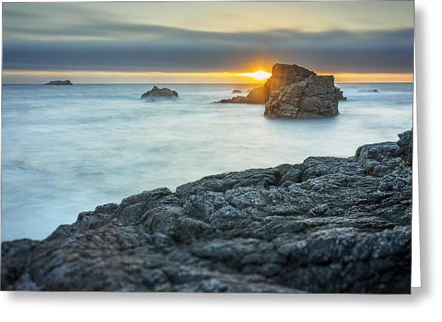 Big Sur Seascape Greeting Card by Steve Spiliotopoulos