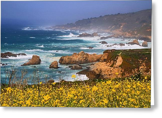 Big Sur Spring Beauty Greeting Card