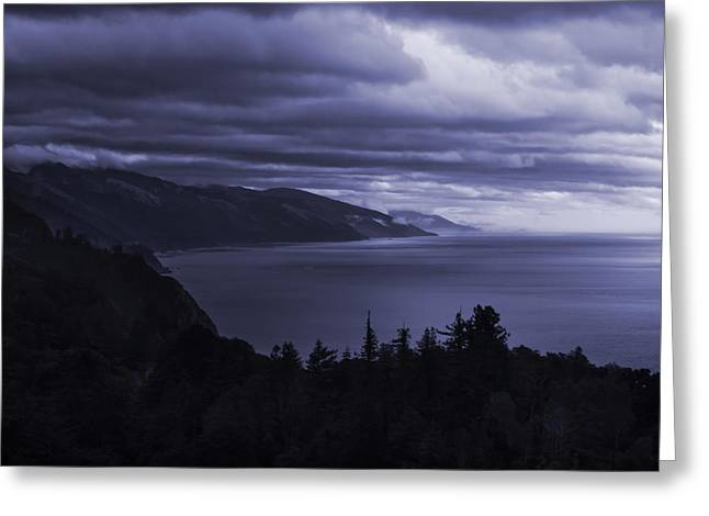 Big Sur Storm Greeting Card by Matt  Trimble