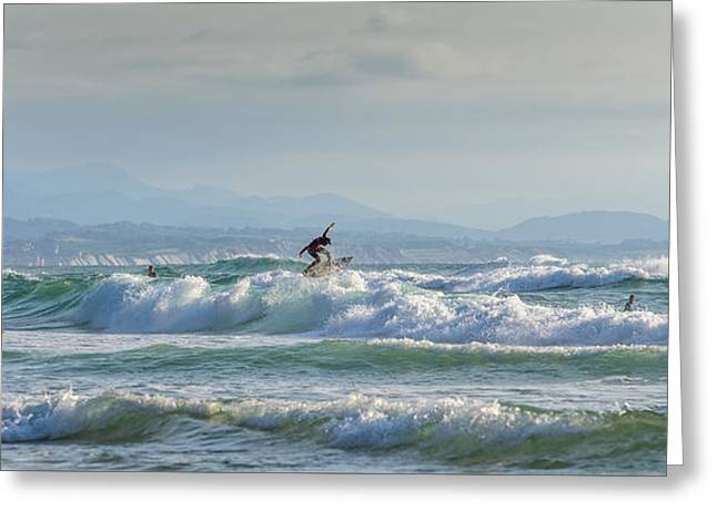 Greeting Card featuring the photograph Big Surf Invitational I by Thierry Bouriat