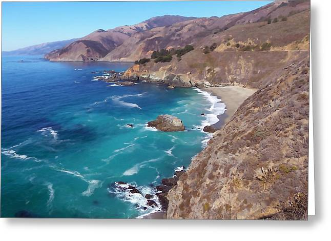 Big Sur's Bixby Bridge Greeting Card by Art Block Collections