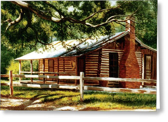 Big Thicket Information Center_the Staley Cabin Greeting Card