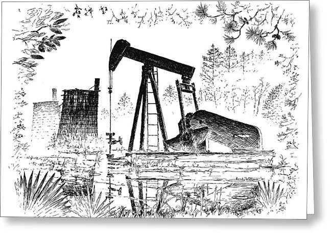 Big Thicket Oilfield Greeting Card