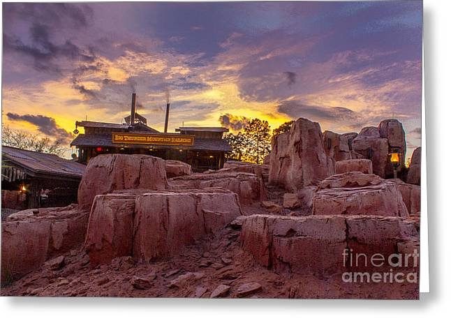 Big Thunder Mountain Sunset Greeting Card