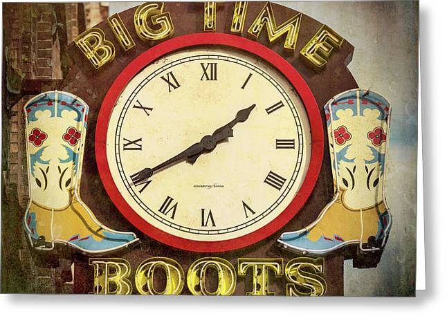 Big Time Boots - Nashville Greeting Card by Stephen Stookey