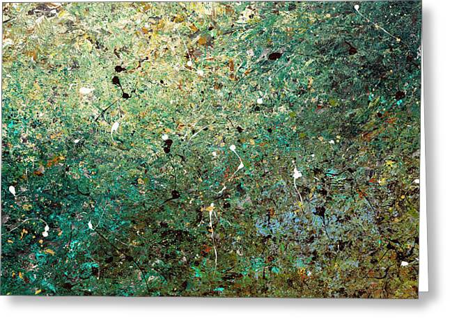 Greeting Card featuring the painting Big Universe - Abstract Art by Carmen Guedez