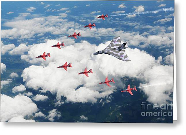 Big V Formation Greeting Card by J Biggadike