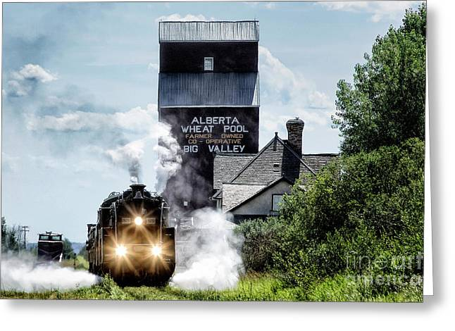 Big Valley Steam Greeting Card