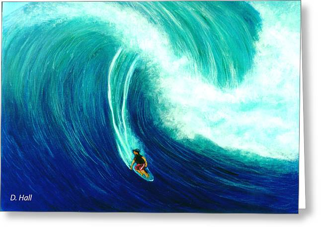 Big Wave North Shore Oahu #285 Greeting Card by Donald k Hall
