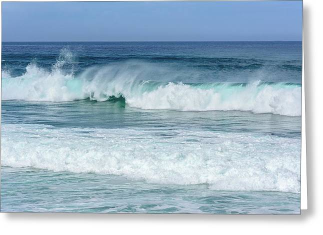 Greeting Card featuring the photograph Big Waves by Marion McCristall