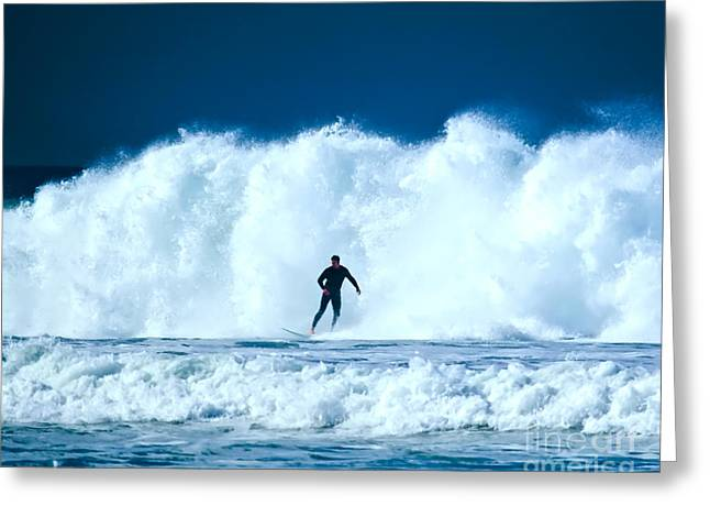 Big White Water On A Big Surf Day Greeting Card