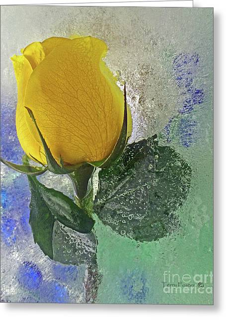Greeting Card featuring the digital art Big Yellow by Terry Foster