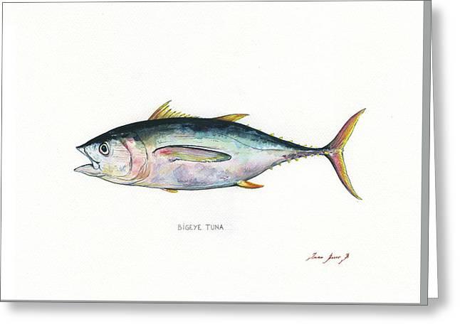 Bigeye Tuna Greeting Card by Juan Bosco