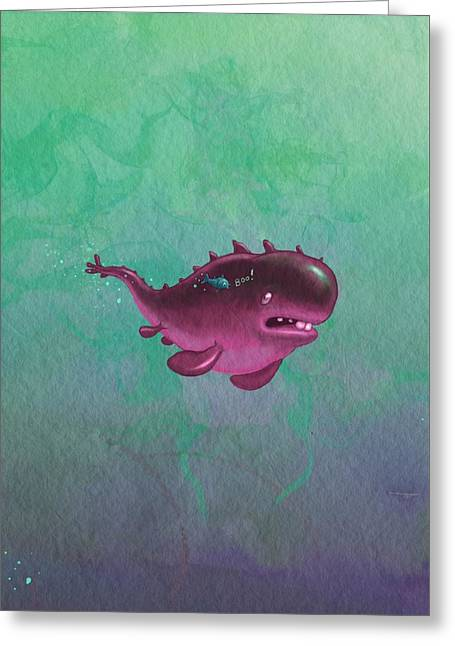 Bigfish Greeting Card by Andy Catling
