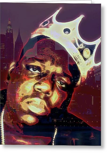 Biggie And Brooklyn Greeting Card by Dan Sproul