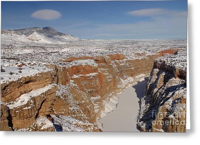 Bighorn Canyon, Montana Greeting Card by Jean-Louis Klein & Marie-Luce Hubert