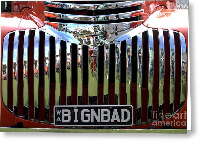 Bignbad Chevrolet Grille 01 Greeting Card by Rick Piper Photography