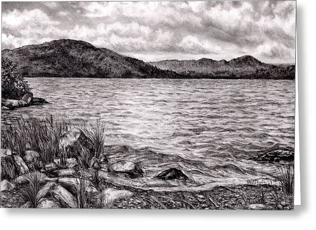 Big Wood Lake Greeting Card by Shana Rowe Jackson