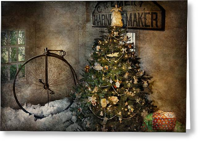 Bike - I Wanna Bike For Christmas  Greeting Card by Mike Savad