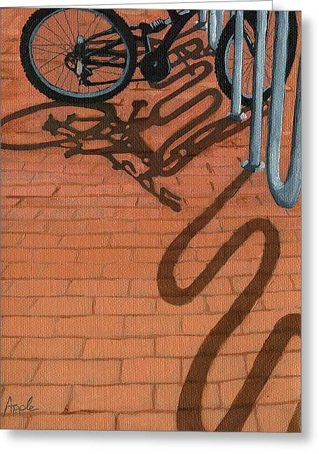 Bike And Bricks No.2 Greeting Card by Linda Apple
