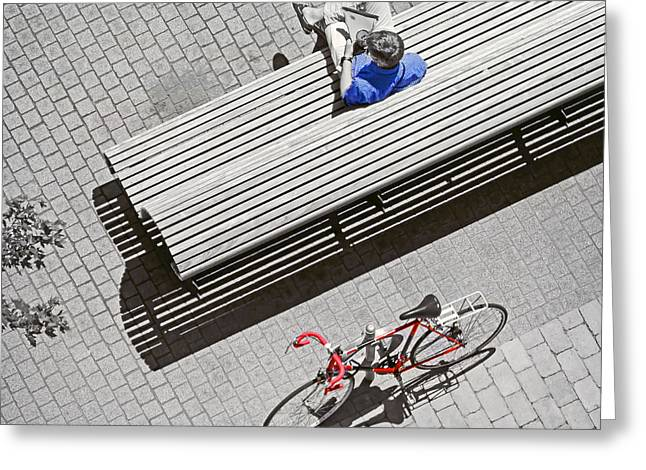 Greeting Card featuring the photograph Bike Break by Keith Armstrong
